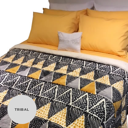 Acolchado Brescia Flannel Estampado/Corderito King Size