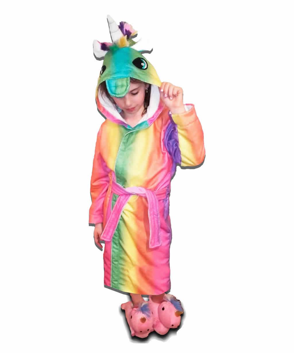 Bata Baño Toalla Infantil Capucha Unicornio Talles 10 y 14