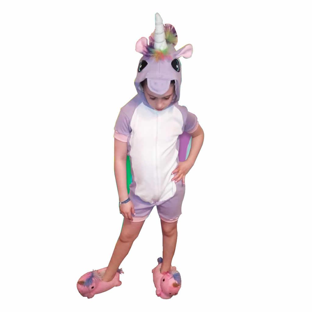 Pijamas Infantiles Enteros - Unicornio - Talles: 10, 12 y 14
